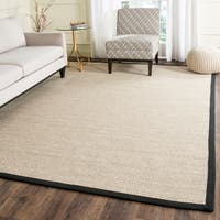 Safavieh Casual Natural Fiber Marble/ Black Sisal Area Rug (8' x 10')