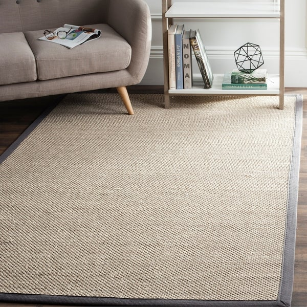 Shop Safavieh Casual Natural Fiber Marble Dark Grey Sisal