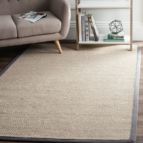 Safavieh Natural Fiber Pacific Marble/ Dark Grey Sisal Rug - 9' x 12'