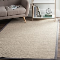 Safavieh Casual Natural Fiber Marble/ Dark Grey Sisal Area Rug - 9' X 12'