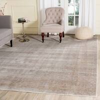Safavieh Valencia Grey/ Multi Distressed Silky Polyester Rug - 8' x 10'