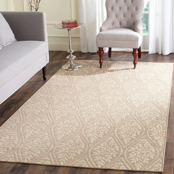 Safavieh Palm Beach Sand/ Natural Rug - 8' x 11'