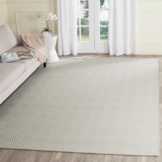 Safavieh Hand-Hooked Wilton Light Grey/ Ivory Wool Rug (8' x 10')