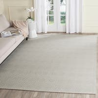 Safavieh Hand-Hooked Wilton Silver/ Ivory Wool Rug - 8' x 10'