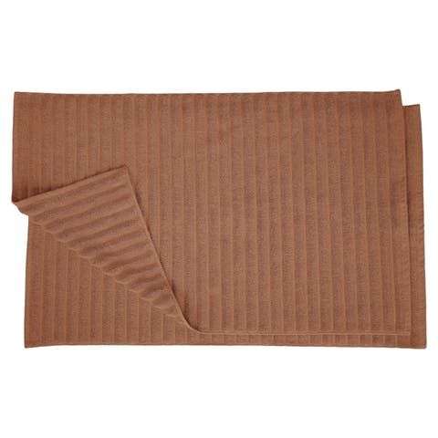 Miranda Haus Eco-Friendly Cotton Soft and Absorbent Bath Mat (set of 2)