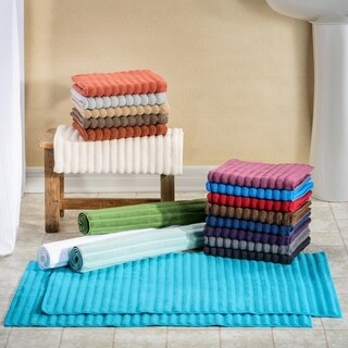 Superior Eco-Friendly Cotton Soft and Absorbent Bath Mat - set of 2 (4 options available)