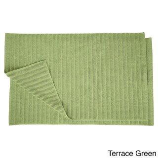 Superior Eco-Friendly Cotton Soft and Absorbent Bath Mat (set of 2) (Option: Terrace Green)