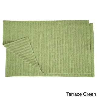 Superior Eco-Friendly Cotton Soft and Absorbent Bath Mat - set of 2 (Option: Terrace Green)