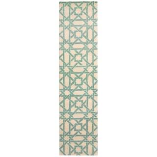 Herat Oriental Indo Hand-tufted Tibetan Wool Runner (2'7 x 11')