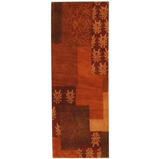 Handmade Herat Oriental Indo Tibetan Wool Runner (India) - 2'5 x 6'7