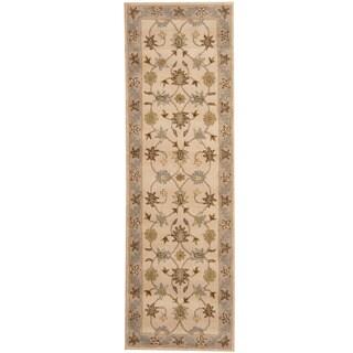 Herat Oriental Indo Hand-tufted Mahal Wool Runner (2'6 x 8') - 2'6 x 8'