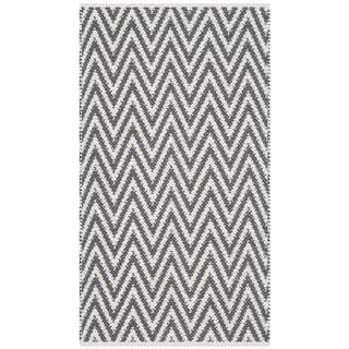 Safavieh Hand-Woven Montauk Grey/ Ivory Cotton Rug (2'3 x 3'9)