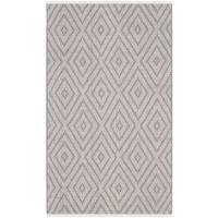 Safavieh Hand-Woven Montauk Grey/ Ivory Cotton Rug - 2'3 x 3'9