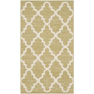 Safavieh Hand-Woven Montauk Green/ Ivory Cotton Rug (2'3 x 3'9)