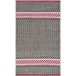 Safavieh Hand-Woven Montauk Light Pink/ Multi Cotton Rug (2'3 x 3'9)