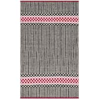 "Safavieh Hand-Woven Montauk Light Pink/ Multi Cotton Rug - 2'3"" x 3'9"""