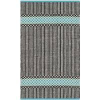 Safavieh Hand-Woven Montauk Turquoise/ Multi Cotton Rug - 2'3 x 3'9