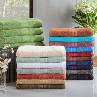 Miranda Haus Eco Friendly Cotton Soft and Absorbent Bath Towel (set of 4)