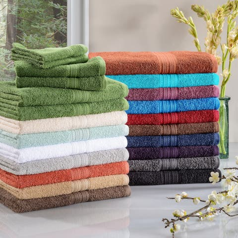 Miranda Haus Eco Friendly Cotton Soft and Absorbent 6-piece Towel Set