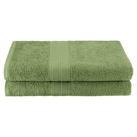 Miranda Haus Eco Friendly Cotton Soft and Absorbent Bath Sheet (set of 2)