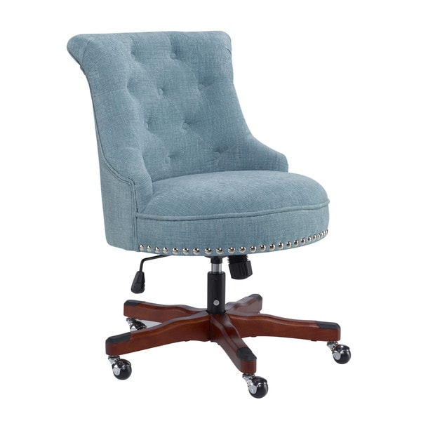 Linon Pamela Office Chair - Blue