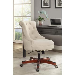 Linon Pamela Office Chair - White|https://ak1.ostkcdn.com/images/products/11041341/P18054564.jpg?impolicy=medium