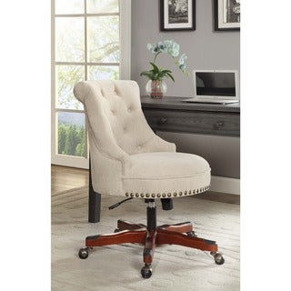 Linon Pamela Office Chair - White