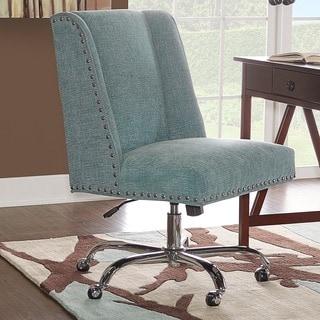Linon Violet Office Chair - Aqua