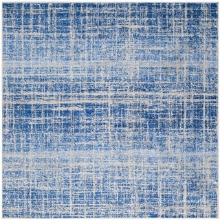 Safavieh Adirondack Modern Abstract Blue/ Silver Rug (6' Square)
