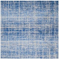 Safavieh Adirondack Modern Abstract Blue/ Silver Rug - 6' Square