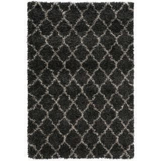 Nourison Amore Charcoal Shag Area Rug (6'7 x 9'6)