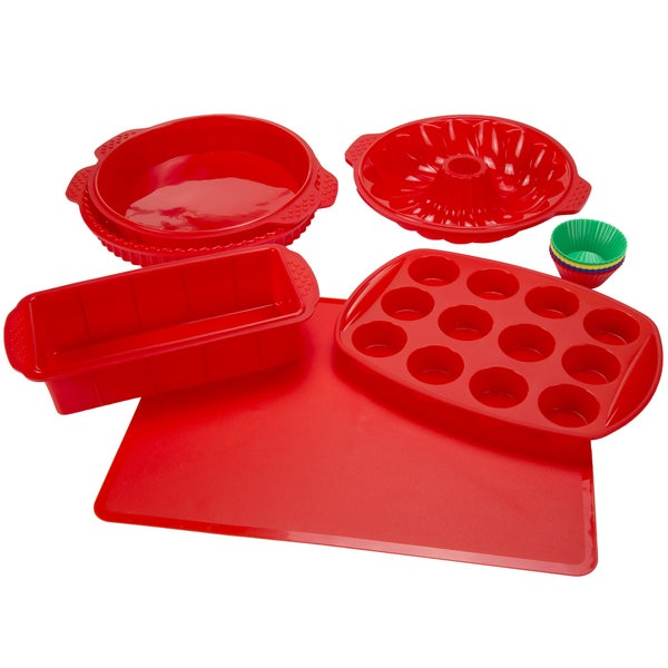 Silicone Bakeware 18-piece Set by Classic Cuisine. Opens flyout.