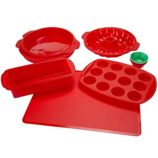 Silicone Bakeware 18-piece Set by Classic Cuisine|https://ak1.ostkcdn.com/images/products/11041405/P18054607.jpg?impolicy=medium