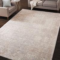 Nourison Graphic Illusions Ivory Vintage Distressed Rug - 6'7 x 9'6