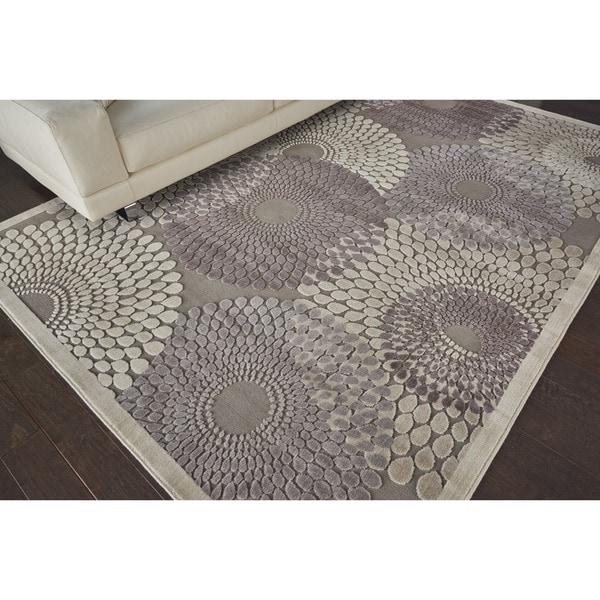 Nourison Graphic Illusions Grey Rug (6'7 x 9'6)