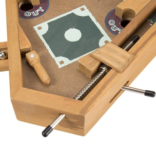 Miniature Wooden Baseball Pinball Tabletop Skill Game by Hey! Play!