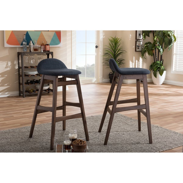 Shop Mid Century 30 Bar Stool By Baxton Studio Set Of 2 On Sale