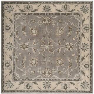 Safavieh Handmade Heritage Timeless Traditional Grey/ Beige Wool Rug (6' x 6' Square)