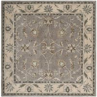 Safavieh Handmade Heritage Timeless Traditional Grey/ Beige Wool Rug (6' x 6' Square)