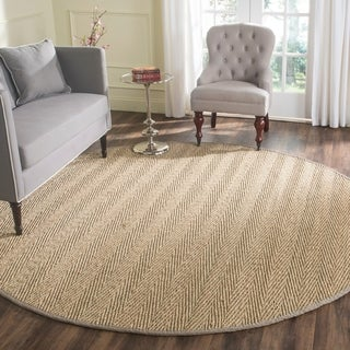 Safavieh Casual Natural Fiber Natural / Grey Jute Area Rug (8' x 8' Round)