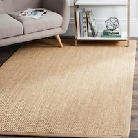 Safavieh Casual Natural Fiber Natural Maize/ Ivory Linen Sisal Area Rug - 6' Square