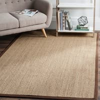 Safavieh Casual Natural Fiber Natural Maize/ Brown Sisal Area Rug - 6' x 6' Square