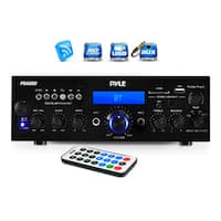 Pyle PDA6BU 200-watt Bluetooth/ FM Radio/ USB/ SD Card/ AUX Stereo Amplifier Receiver with Microphone Inputs