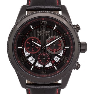 Men's Balmer E-Type Racing-style Swiss Chronograph Custom-milled Bezel Watch