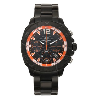 Aubert Freres Lagasse Chronograph Men's Sport Watch Multi-Textured Dial Stainless Steel Bracelet