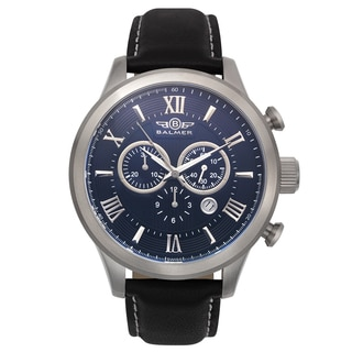 Balmer Gran Turismo Vintage Design Men's Swiss Chronograph Leather Strap