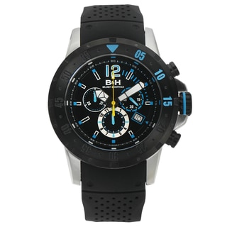 Brandt & Hoffman Men's Forsyth Swiss Chronograph Watch with Bead Blasted Finish, and Super-LumiNova Dial