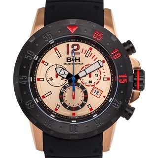 Brandt & Hoffman Men's Forsyth Swiss Chronograph Watch with Bead Blasted Finish and Super-LumiNova Hands