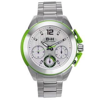 Brandt & Hoffman Thoreau Men's Swiss Quartz Chronograph Watch with Aluminum Accents, Textured Dial, Steel Case and Bracelet