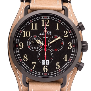 Men's Jules Breting Discovery One Swiss Chronograph Leather Removable Cuff Watch
